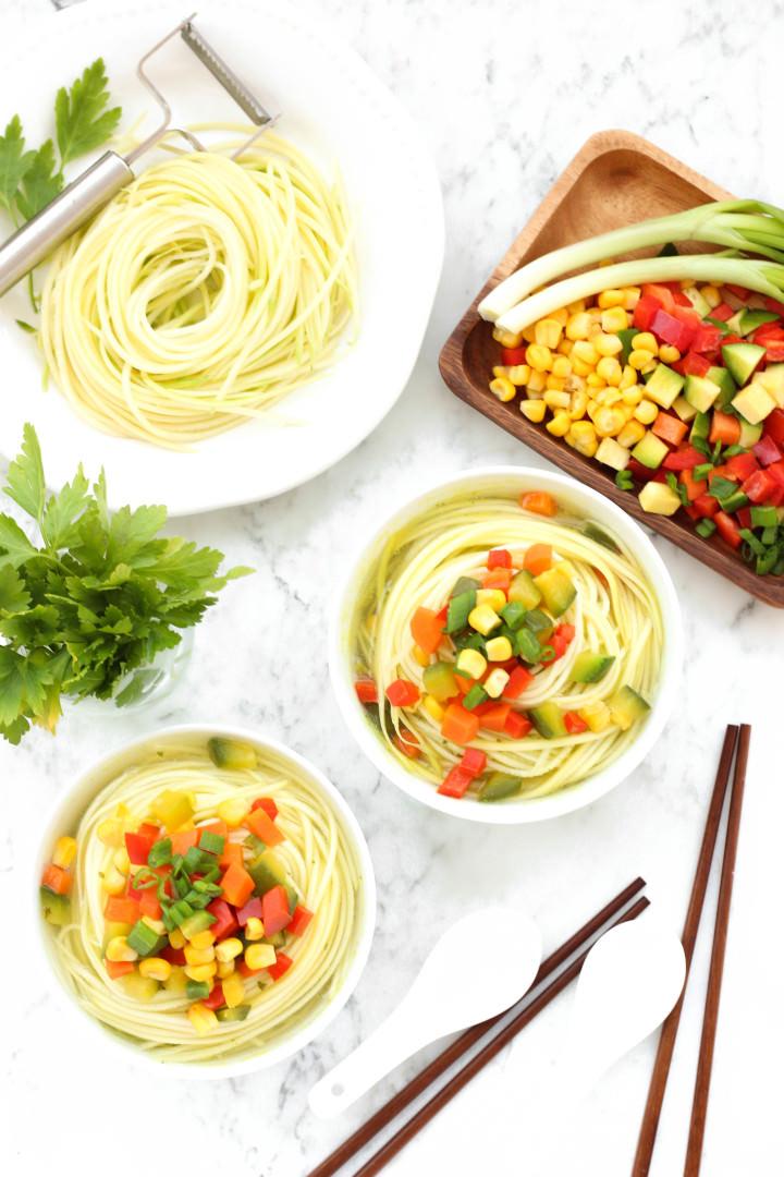 Healthy Vegetable Zucchini Noodle Soup
