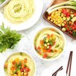 Healthy Vegetable Zucchini Noodle Soup