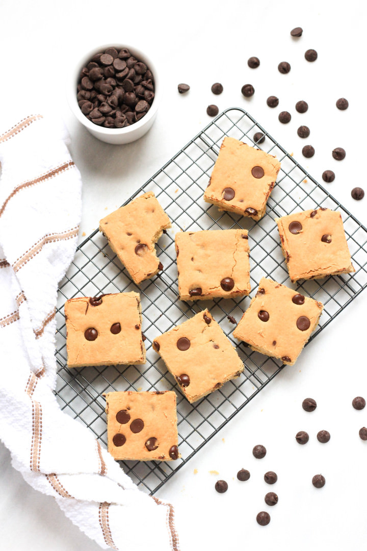 Gluten-free Chocolate Chip Cookie Bars