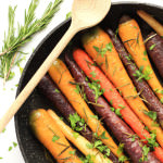 Roasted Rainbow Carrots with Rosemary & Parsley