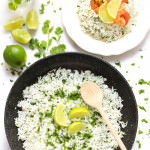 Cilantro Lime Rice with Curried Shrimp