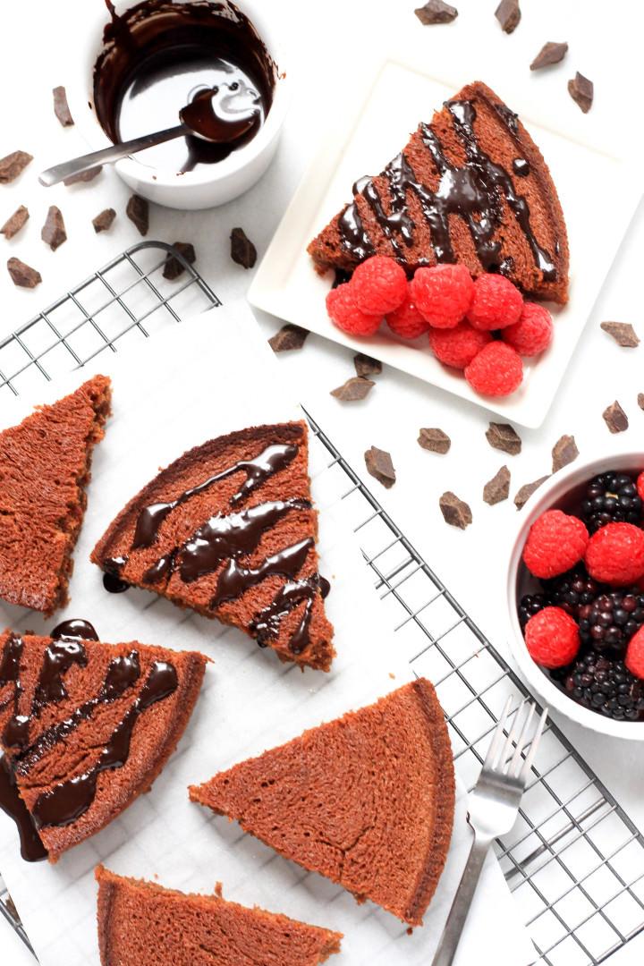 Gluten-free Almond Butter Brownie Tart