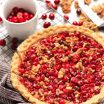 Gluten-free Cranberry & Walnut Tart