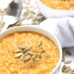 Creamy Pumpkin Risotto (Gluten-Free, Vegan)