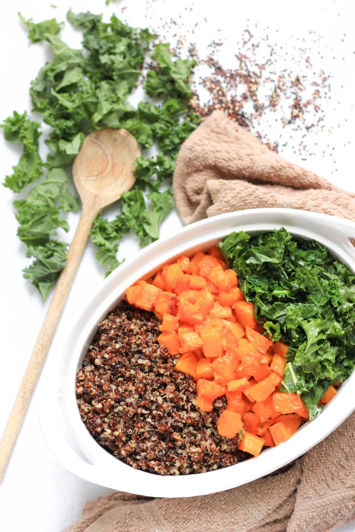 Quinoa, Butternut Squash and Kale Salad