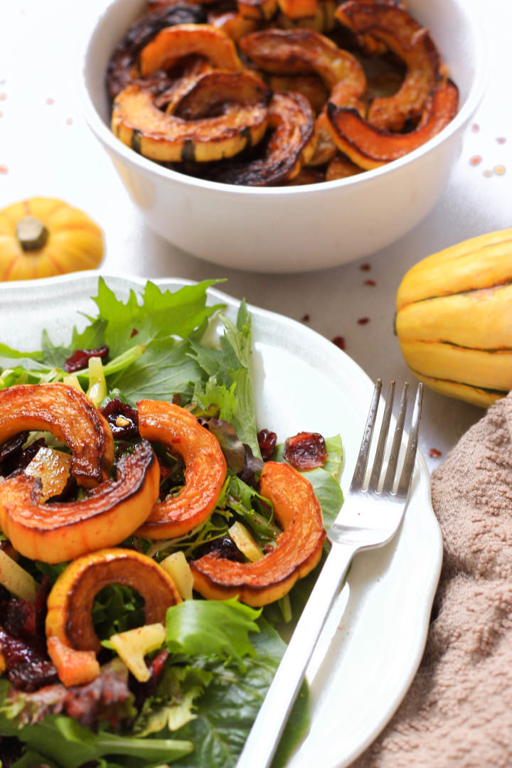 Roasted Delicata Squash Salad