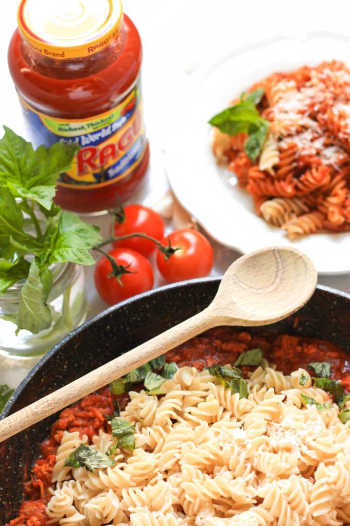 Turkey Bolognese with Gluten-free Fusilli Pasta