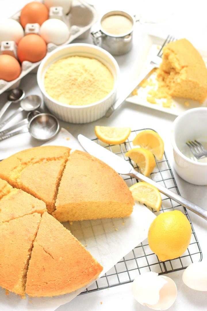 Gluten-free Lemon Cornmeal Cake