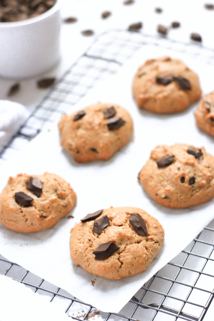 Grain-free Almond Coconut Chocolate Chunk Cookies