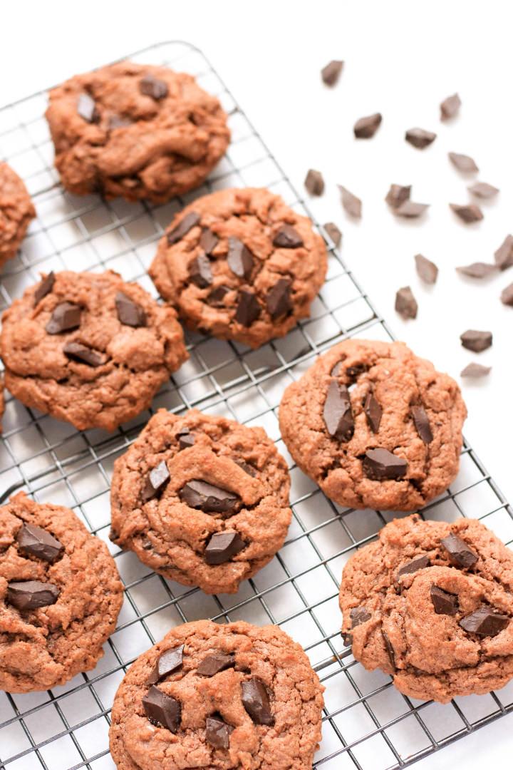 Grain-free Double Chocolate Almond Coconut Cookies