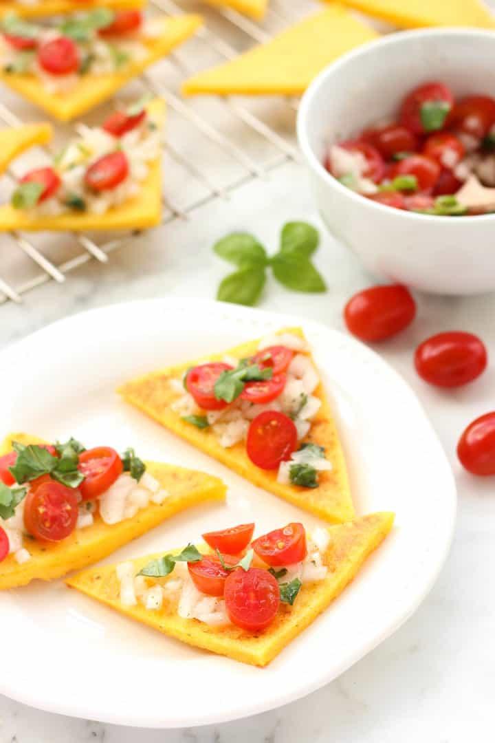 Gluten-free Polenta Bruschetta