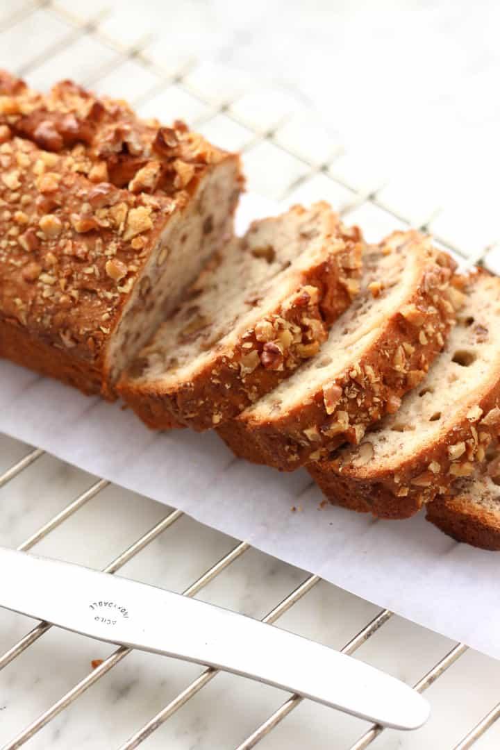 Gluten-free Banana Walnut Bread