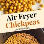 Pinterest collage for air fryer chickpeas