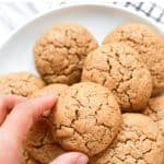 Pinterest image for almond butter cookies