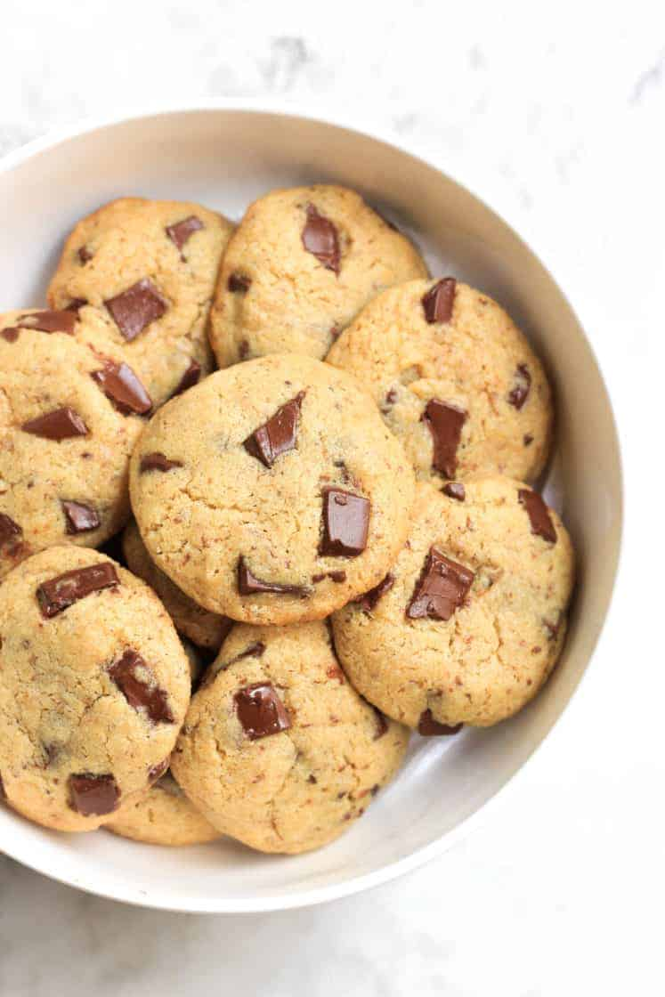 Chickpea Flour Chocolate Chunk Cookies (Gluten-free, Vegan) - Dish ...
