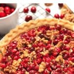 Pinterest image for cranberry pie