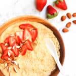 Creamy Millet Breakfast Porridge (Gluten-free, Vegan)