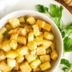 Crispy Air Fryer Diced Potatoes (Gluten-Free, Vegan)