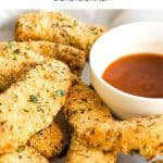 Pinterest image for air fryer chicken tenders