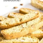 Pinterest image for almond biscotti
