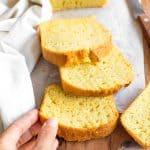 Easy Corn Flour Bread (Gluten-Free, Dairy-Free)