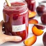 Easy Plum Jam Recipe (Gluten-Free, Vegan, Pectin-Free)