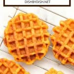 Pinterest image for pumpkin waffles