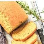 Pinterest image for rosemary cornbread