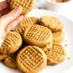 Flourless Peanut Butter Cookies (Gluten-Free, Dairy-Free)