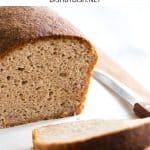 Close up shot of a sliced loaf of bread