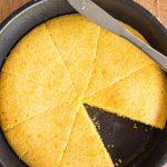 Pinterest image for skillet cornbread
