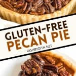 Pinterest image for gluten-free pecan pie