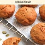 Pinterest image for gluten-free pumpkin muffins
