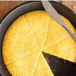 Pinterest image for easy skillet cornbread