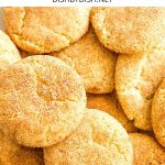 Pinterest image for Snickerdoodle cookies
