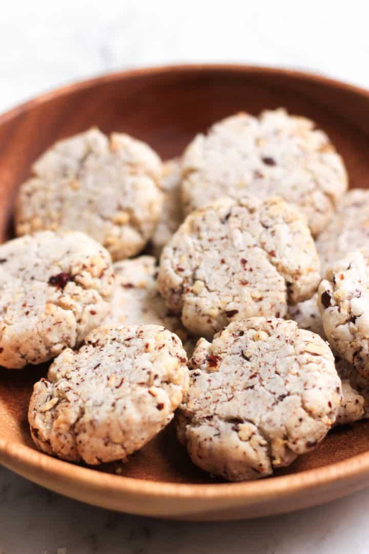 Gluten-free Hazelnut Cookies (Egg-free, Dairy-free)
