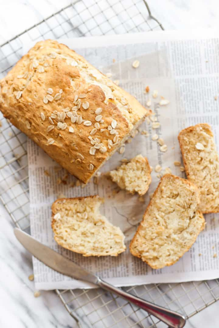 Gluten-free Honey Oat Quick Bread