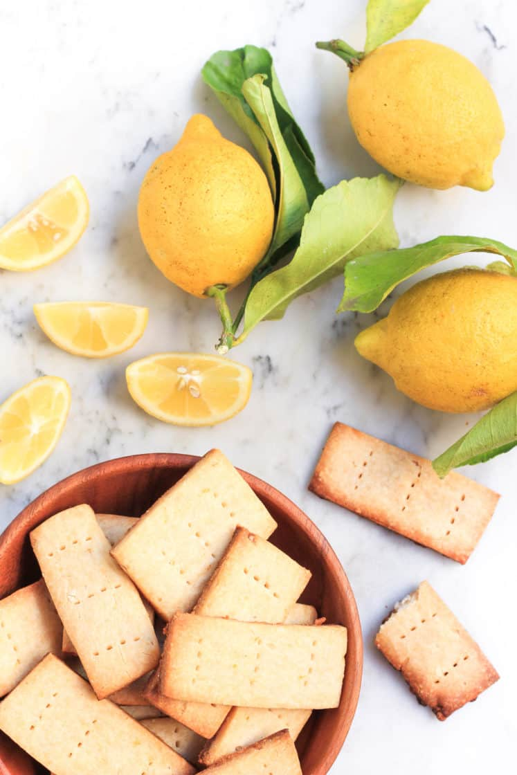 Gluten-free Lemon Shortbread Cookies (Vegan)