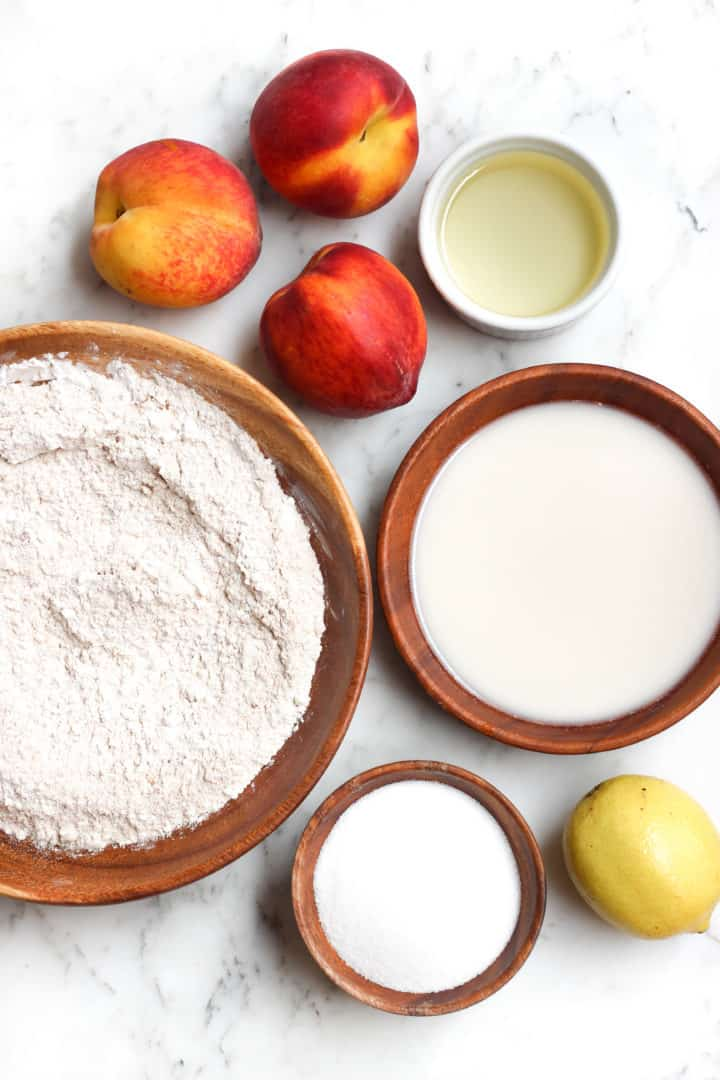 Gluten-free Vegan Fresh Peach Cake