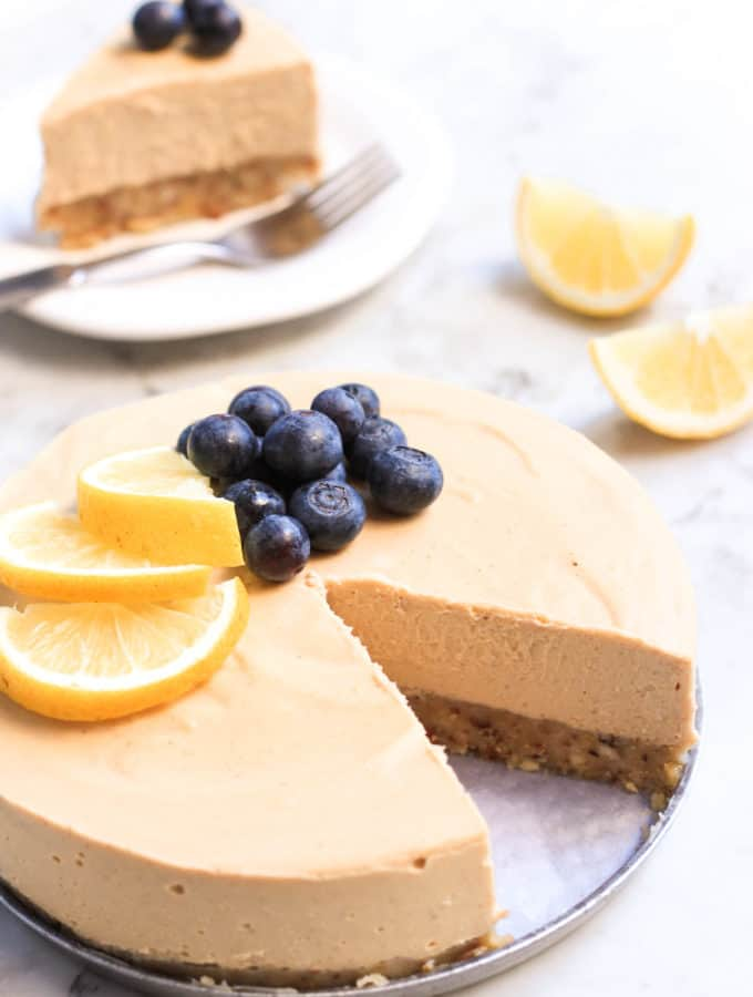 Gluten-free Vegan Lemon Cheesecake