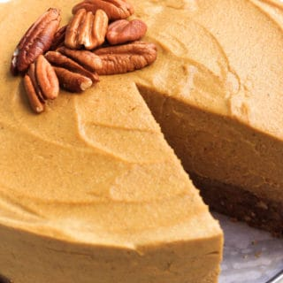 Gluten-free Vegan Pumpkin Cheesecake