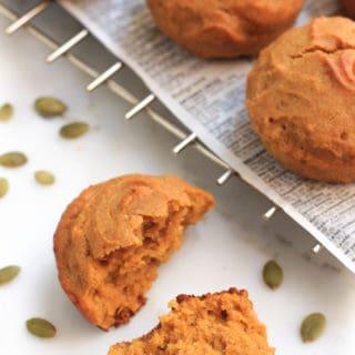 Easy Gluten-free Pumpkin Muffins (Vegan)