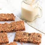 Grain-free Granola Bars (Paleo, Vegan)