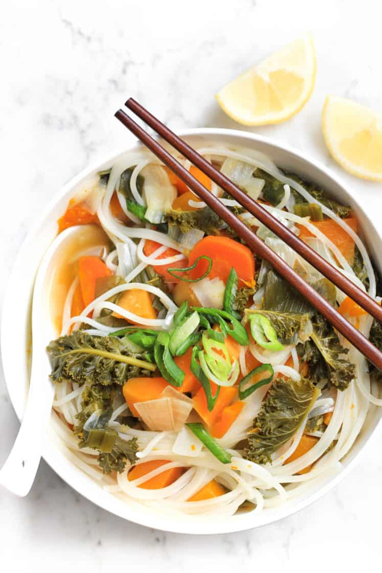 Healing Vegetable Noodle Soup (Gluten-free, Vegan)