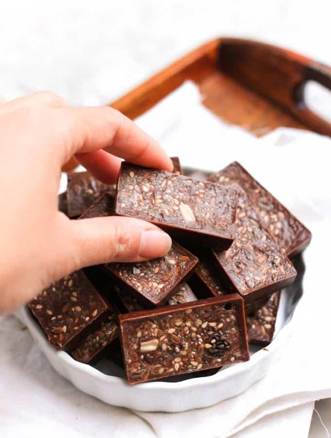 Homemade Raisin & Seed Chocolate