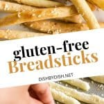 Collage for gluten-free breadsticks.