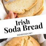 Irish soda bread in whole loaf and sliced version.