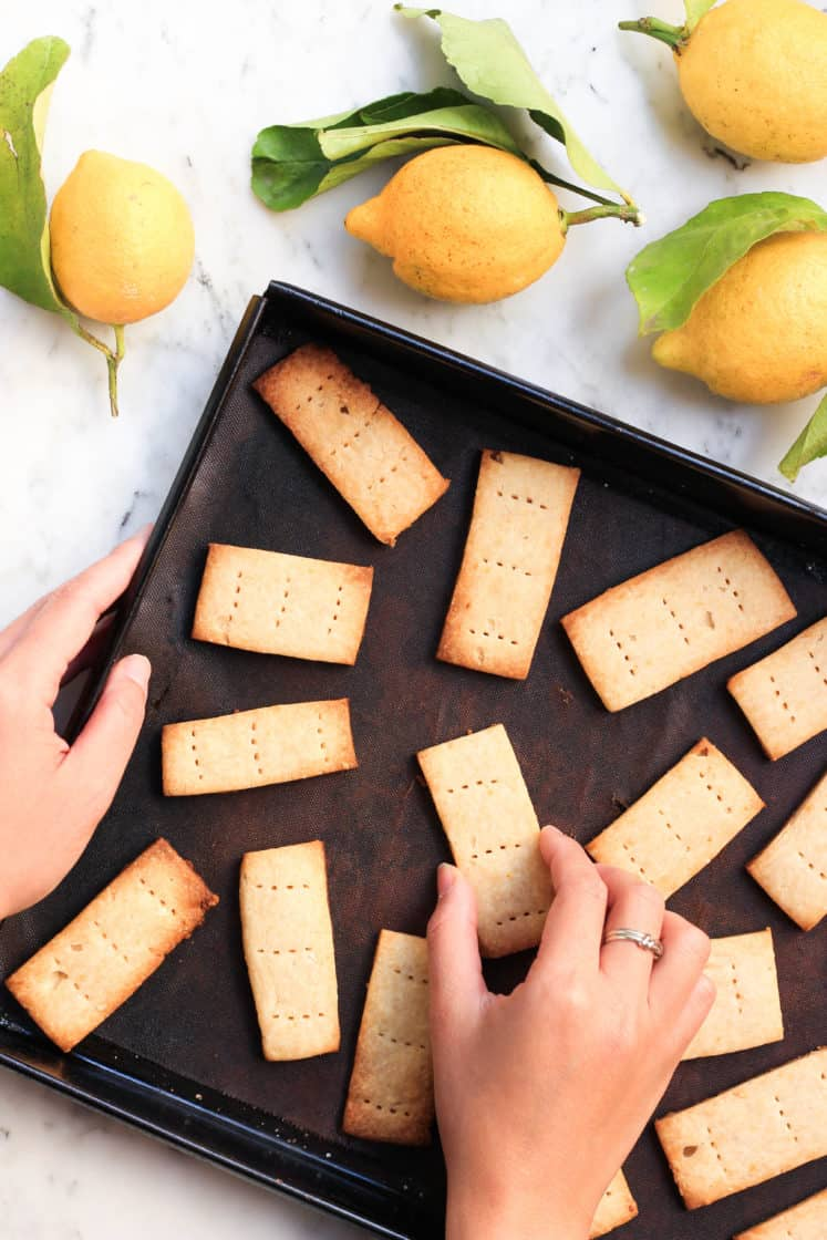 Gluten-Free Lemon Shortbread Cookies