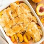 Easy Peach Cobbler (Gluten-Free, Vegan)