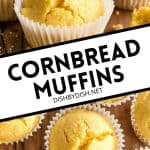 Pinterest image for cornbread muffins